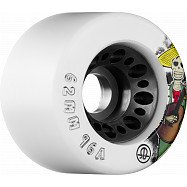 Rollerbones Day of the Dead Speed wheel 62mm x 96a White 4 Pk
