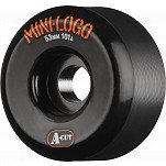 Mini Logo Skateboard Wheel A-cut 53mm 101A Black 4pk