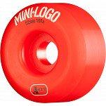 Mini Logo Skateboard Wheel A-cut 52mm 101A Red 4pk