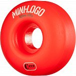 Mini Logo Skateboard Wheel C-cut 52mm 101A Red 4pk