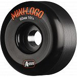 Mini Logo Skateboard Wheel A-cut 60mm 101A Black 4pk