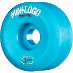 Mini Logo Skateboard Wheel A-cut 55mm 101A Blue 4pk