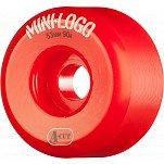Mini Logo Skateboard Wheel A-cut 53mm 90A Red 4pk