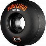 Mini Logo Skateboard Wheel C-cut 54mm 101A Black 4pk