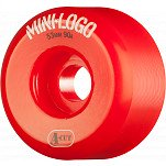Mini Logo Skateboard Wheel A-cut 53mm 90A Red 4pk
