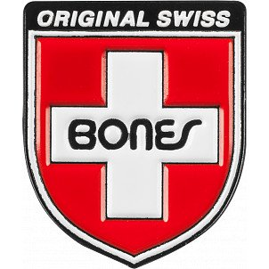 Bones Bearings Swiss Shield Lapel Pin