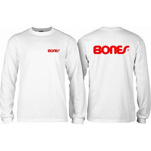 Bones Bearings Swiss Text L/S Shirt White