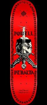 Powell Peralta SAS Chainz Skateboard Deck Red - 8 x 31.45