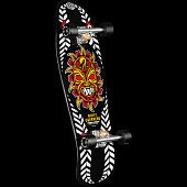 Powell Peralta Nicky Guerrero Mask Complete Assembly Black - 10 x 31.75