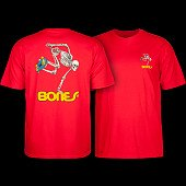 Powell Peralta Skateboarding Skeleton Youth T-shirt Red