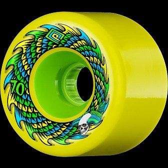 Powell Peralta Soft Slide Skateboard Wheel 70mm 75A 4pk Yellow