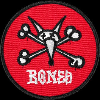 "Powell Peralta Vato Rat Patch 3.5""  Red Single"