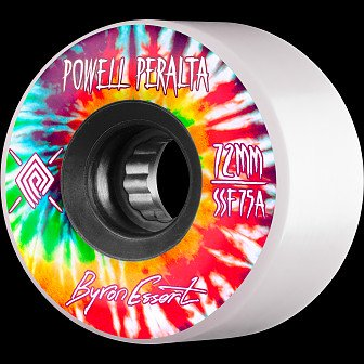 Powell Peralta Byron Essert Skateboard Wheel 72mm 75A 4pk White