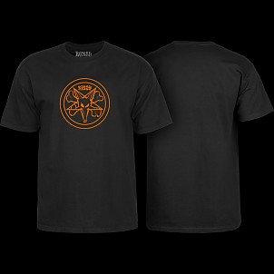 BONES WHEELS Pentagram T-shirt Black